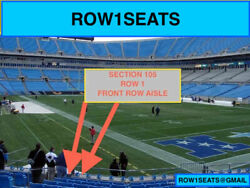 2 Front Row Minnesota Vikings At Carolina Panthers Tickets Section 105 Row 1
