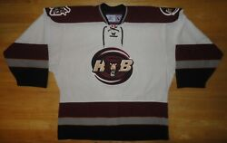 Hershey Bears Reebok White Sewn Team Jersey With Fight Strap - Adult Size 52