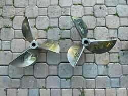 Cleaver Stainless Steel Racing Boat Propellers Left And Right Pair 18x29 19 Spline