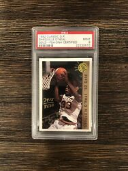 1992 Classic Draft Picks Shaquille Oand039neal Rookie Autographed/auto Psa 9 Mint 🔥