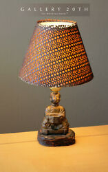 Wow Cashien Chinois Good Luck Fortune Sculpture Lampe San Francisco 1910