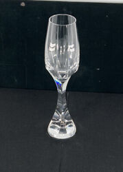 Baccarat Champagne Flute Crystal Glass Neptune Signed - Multiple Available