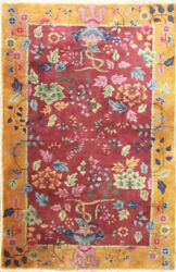 Antique Art Deco Chinese Rug, The Paradise 2'11 X 4'9 17230