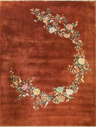 Antique Art Deco Chinese Oriental Rug 8and0399 X 11and0399 17208