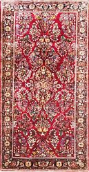 4and0394 X 9and039 Antique Sarouk Oriental Rug C-1930 Perfect Condition 17065