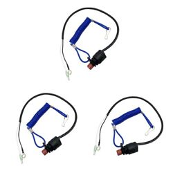 3pcs Boat Engine Safety Kill Stop Switch Lanyard For Yamaha Outboard Motors