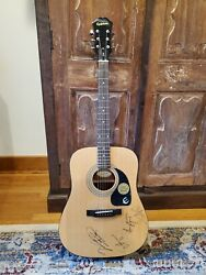 Brad Paisley Sammy Hagar Amy Grant And Vince Gill Signed Acoustic Guitar