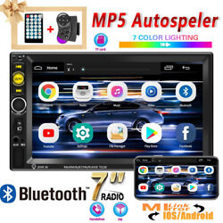 7and039and039 Hd Car Radio Digital 2din Screen Display Multimedia Mirror Link Mp5 Player