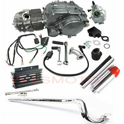 Lifan 150cc Engine Motor 1n234 And Exhaust And Oil Cooler For Crf50 Crf70 Dirt Bike