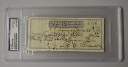 Al Simmons Twice 2x Signed Auto Autograph Check W/photo Of Babe Ruth Psa/dna