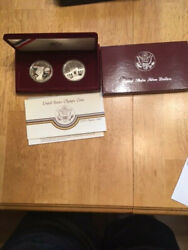 1983 And 1984 Olympic Two Coin Silver Dollar Set