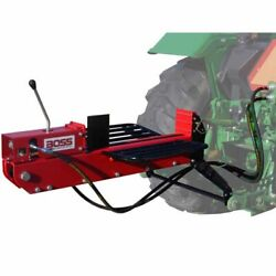 Boss Industrial 3-point Tractor Mount Dual-action Log Splitter 16 Ton Max Fo...