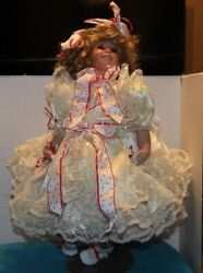 Rare Peggy Sue Casey 32 Inch Shirley Temple Expressions Porcelain Doll