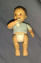 Fisher Price Loving Family Asian Baby With Bottle 1998 Used Check Photos Rare