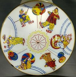 Vintage Nos Glass Ceiling Light Shade Clowns Circus 4 Color 16w Mounting Parts