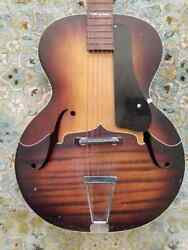 1940s Kay Archtop Acoustic Guitar, Super Rare Factory Custom Finish, Hard Case