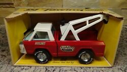 Rare Nib 1960and039s Vintage Nylint Towing Service 420 Wrecker Tow Truck Usa
