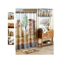 Country His And Her Outhouse Bathroom Collection Rug Shower Curtain Or Hand Towel