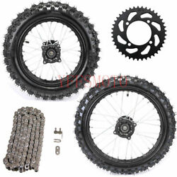 60/100-14 Front And 80/100-12 Rear And Chain Sprocket For Dirt Pit Pro Off Road Bike