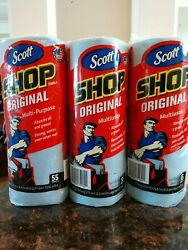 3 Three Of Scott Shop Original Multi-purpose Absorb Oiland Grease 55 Tow. In One