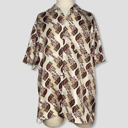 X The Men Multicolor Silk Short Sleeves Button Down Shirts Size