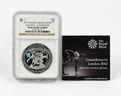2010 Great Britain 5 Pounds Silver Olympics Countdown Piefort Ngc Pf-69 Uc