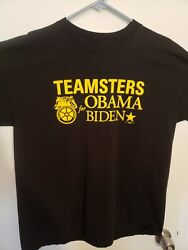 Teamsters For Obama Biden Union Made Shirt Size Xl.