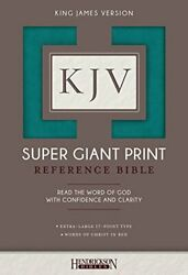 Kjv Super Giant Print Bible By Bibles New 9781619709706 Fast Free Shipping-.