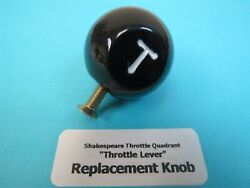 Replacement Throttle Knob For Stearman Bt-13 Wwii Aircraft Shakespeare Quadrant