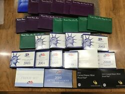 1983-s To 2012-s Us Clad Proof Set Collection Of 28 Different Dcam Sets E7254