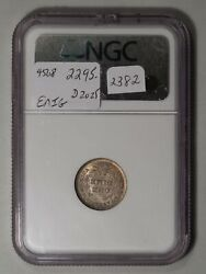 1838 Liberty Seated Dime. Large Stars. Ngc Ms-65 Cac