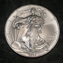 2009 Uncirculated American Silver Eagle Us Mint Issue 1oz Pure Silver I959