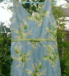 Lily Of The Valley Cocktail Blue Floral Dress Sheath 14p 14 L/xl