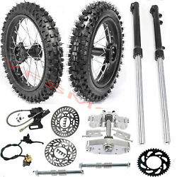60/100-14 + 80/100-12 Tire Rim Wheel Front Fork Brake Master Disc Sprocket Bike