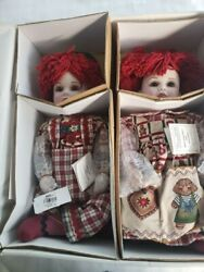 Marie Osmond Hansel And Gretel Twins Series Porcelain 21 Dolls Numbered 2826