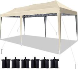Quictent Heavy Duty Ez Pop Up Canopy 10and039x20and039 Wedding Party Tent Folding Gazebo