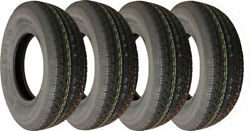 Carlstar Ultra Crt Radial Trailer Tire Lrc 6ply St175/80r13 Pack Of 4