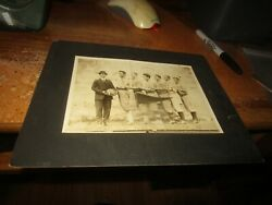 Rare Vintage Antique Early 1900and039s Matted High School Basketball Photo