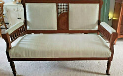 Antique Eastlake Victorian Love Seat - Settee - Sofa - Bench- Couch Late 1800s