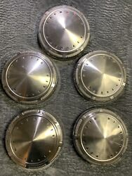 69 70 71 Plymouth Dog Dish Hub Caps 9 Set Of 5 Stainless Hubcaps 1969 1970 1971