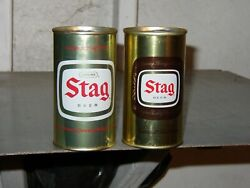 2 Dif 1960s Stag Pt Beer Cans Ss Bo Nm Belleville, Illinois