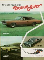 1968 Dodge Fever Charger Coronet Dart R/t Gts 8 Pg Pullout Line Vintage Print Ad