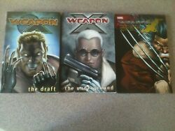 Weapon X Tpb Lot Marvel Vol. 1 And 2, The Draft, Underground, Days Of Future Now