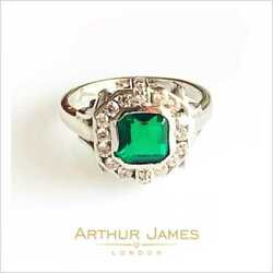 Cushion Cut Colombian 3.50 Ct Green Emerald White Gold Jewelry Women Halo Ring