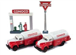 Classic Metal Works 60000 N Conoco R-190 Tank Trucks W/station Sign And Gas Pump