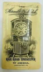 The Hamilton Watch Company Railroad Time Keeper Of America Note Book