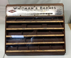 Whitman And Barnes Store Hardware Drill Display Case W And B Mfg Tools Wrench