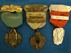 Oakland Police And Fire Department Shooting Medals 3 1938 1940
