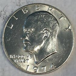 1974-s Eisenhower Ike Dollar Uncirculated 40 Silver - High Quality Scans B691