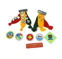 Boy Scout Cub Webelos Patch Pin Lot Honor Camper Bear World Patches And Pins Used
